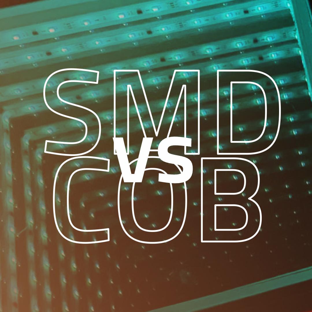 Imagem LED SMD vs COB